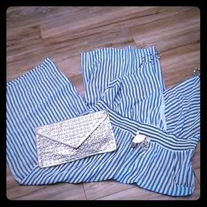 Blue & White Stripe jumpsuit
